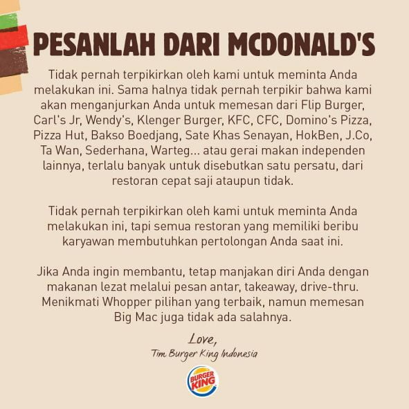 Sumber: Facebook Burger King