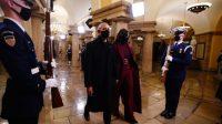 Mengintip busana Michelle Obama dalam pelantikan presiden Joe Biden di gedung capitol (net)