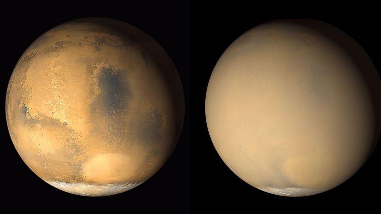 Potret terbaik planet mars yang berhasil diabadikan (net)