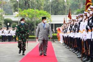 Menhan Prabowo Subianto Resmikan Resimen Kadet Mahasiswa Unhan